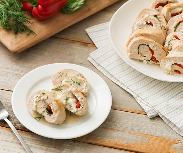 Photo of - Stuffed Chicken Breasts Poached in Lemon and Dill Butter