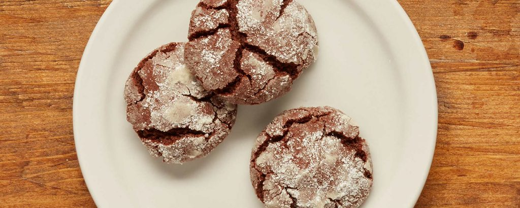 Photo of - Chocolate Chai Spiced Crinkle Cookies