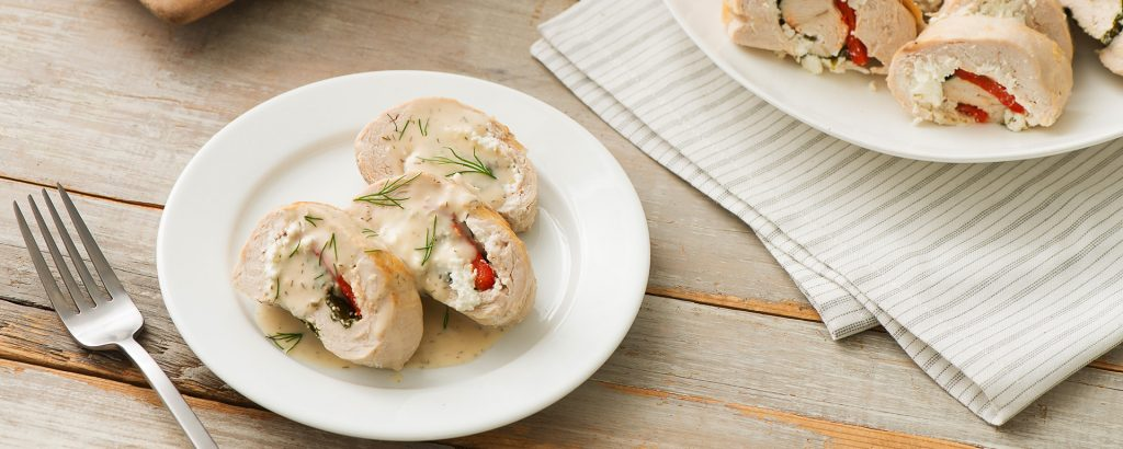 Photo for - Stuffed Chicken Breasts Poached in Lemon and Dill Butter