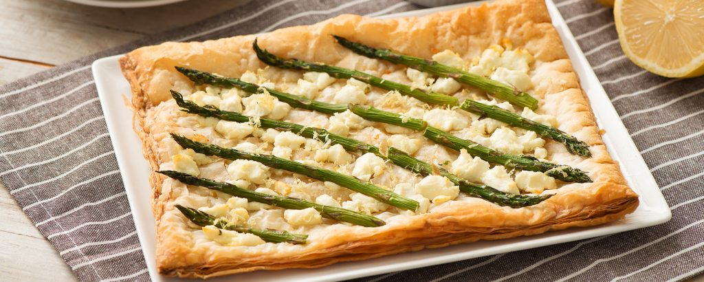 Photo for - Puff Pastry Goat Cheese and Asparagus Tart
