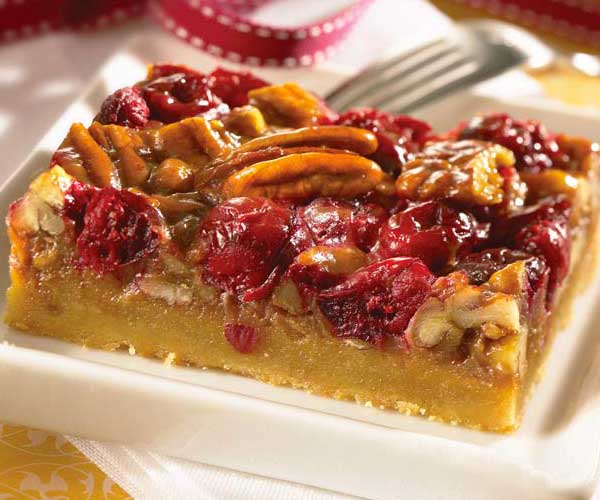 Photo of - Cranberry Caramel Shortbread