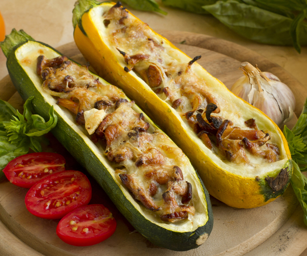 Photo of - Courgettes farcies aux champignons