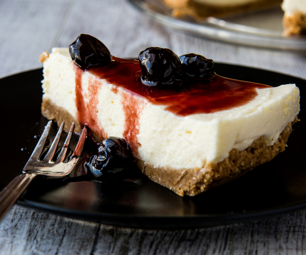 Photo of - No Bake Cherry-Blueberry Cheesecake