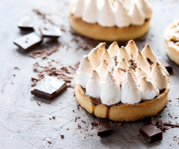 Photo of - Salt and Pepper Chocolate Meringue Tart