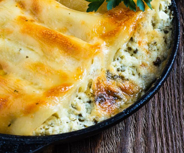 Photo of - Two-Mushroom Cheese Manicotti